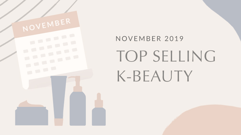 Top selling K-Beauty products in November 2019