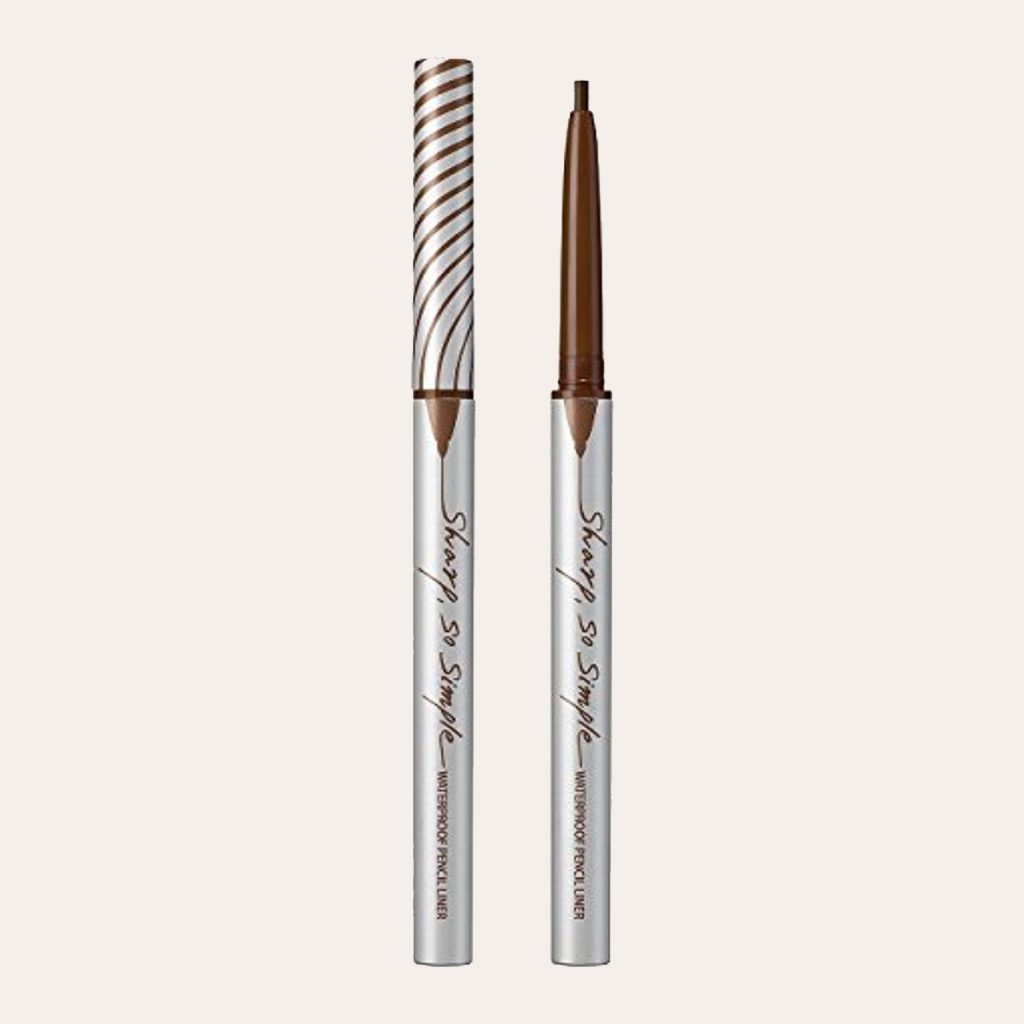 best K-Beauty Products Clio – Sharp So Simple Waterproof Pencil Liner (#002 Brown)