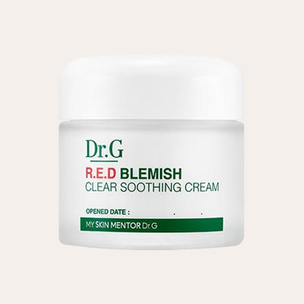 best K-Beauty Products Dr. G – Red Blemish Clear Soothing Cream