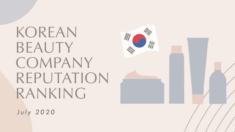July 2020 Korean Beauty Company Reputation Ranking