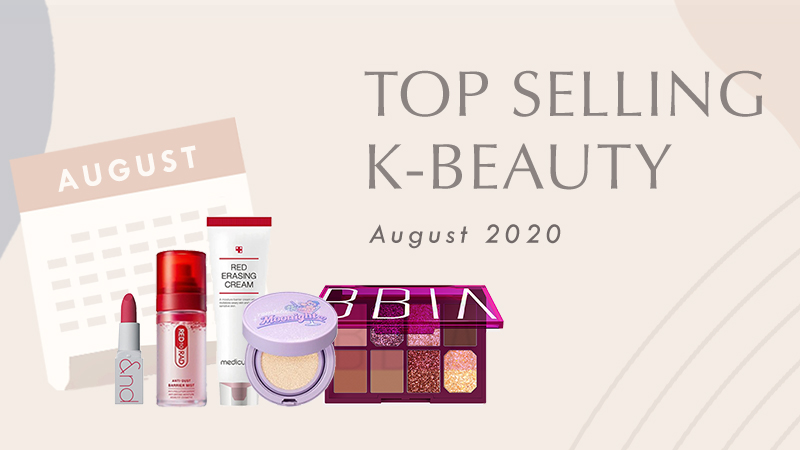 Top selling Korean Beauty products in August 2020 in South Korea