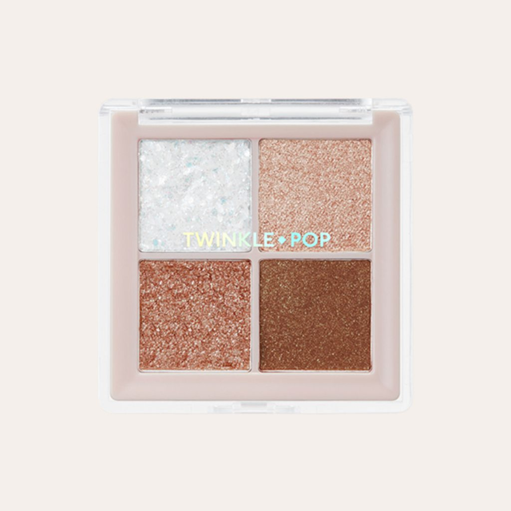 Clio - Twinkle Pop Pearl Flex Glitter Eye Palette 02 Hey Brown