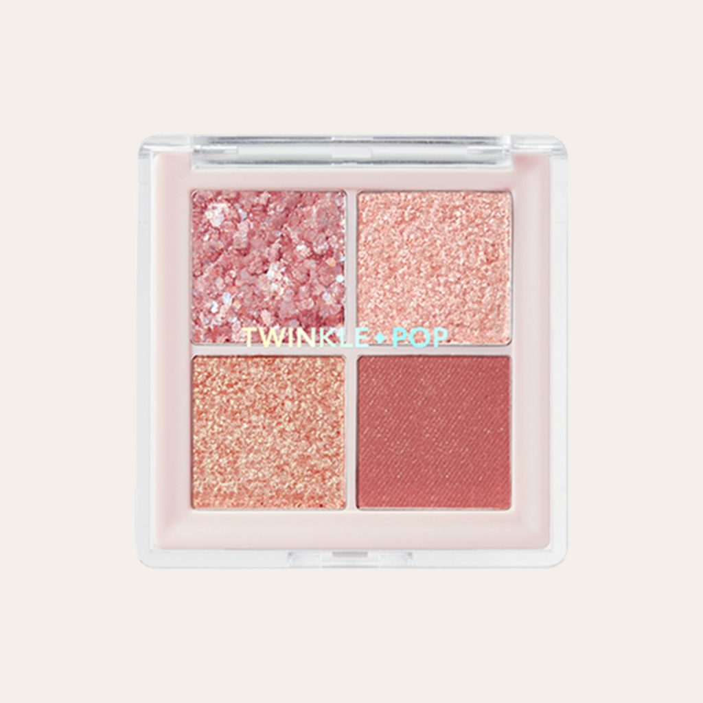 Clio - Twinkle Pop Pearl Flex Glitter Eye Palette 02 Hey Rose
