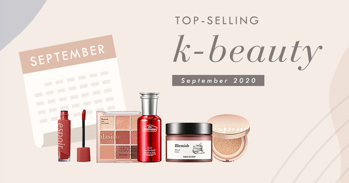 Top-selling Korean Beauty products in September 2020 in South Korea