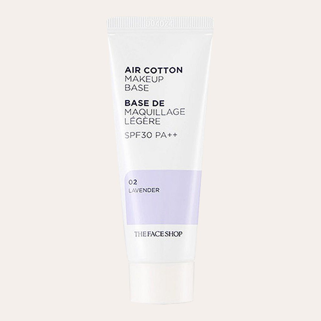 The Face Shop - Air Cotton Makeup Base SPF30 PA++ [#02 Lavender]