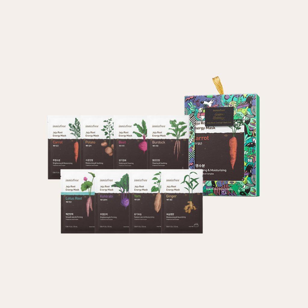 Innisfree - Jeju Root Energy Mask Set