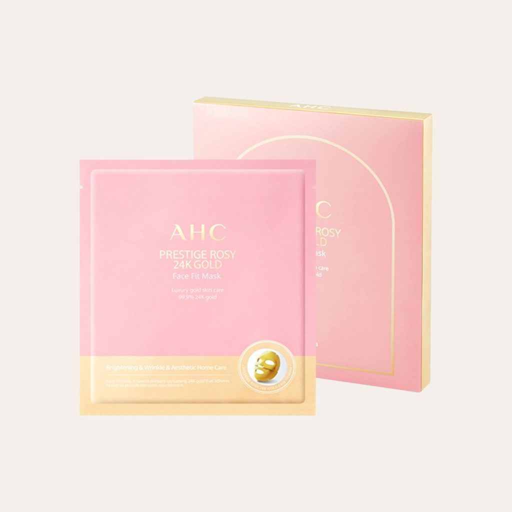AHC - Prestige Rosy 24k Gold Face Fit Mask
