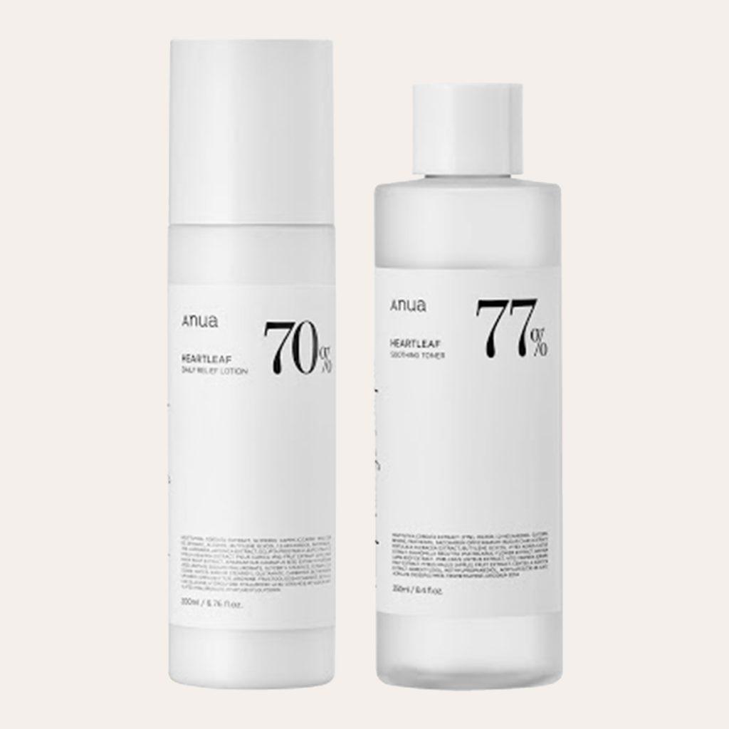 Anua – Heartleaf 77% Soothing Toner (250ml) + Lotion (200ml)