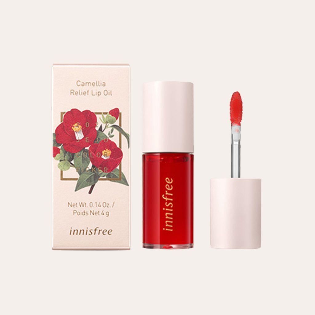 Innisfree - Jeju Color Picker Camellia Relief Lip Oil