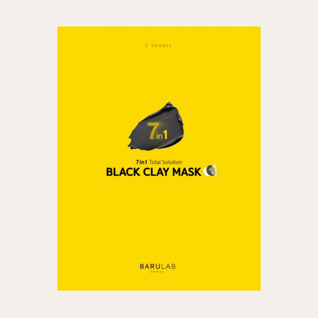 Barulab - 7 in 1 Total Solution Black Clay Mask