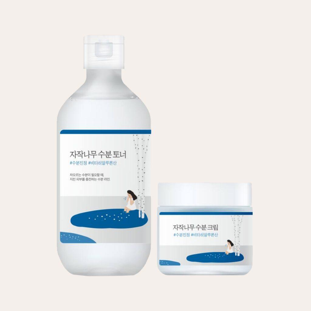 Round Lab - Birch Juice Moisturizing Cream Special Set [Cream 80ml + Toner 80ml]
