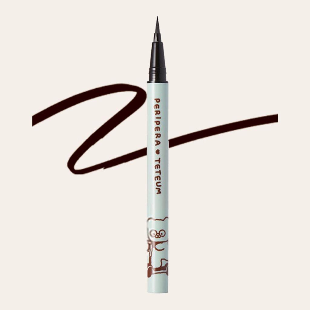 Peripera x Teteum - Ink Thin Thin Brush Liner (Teteum Edition) #01 Black Noir