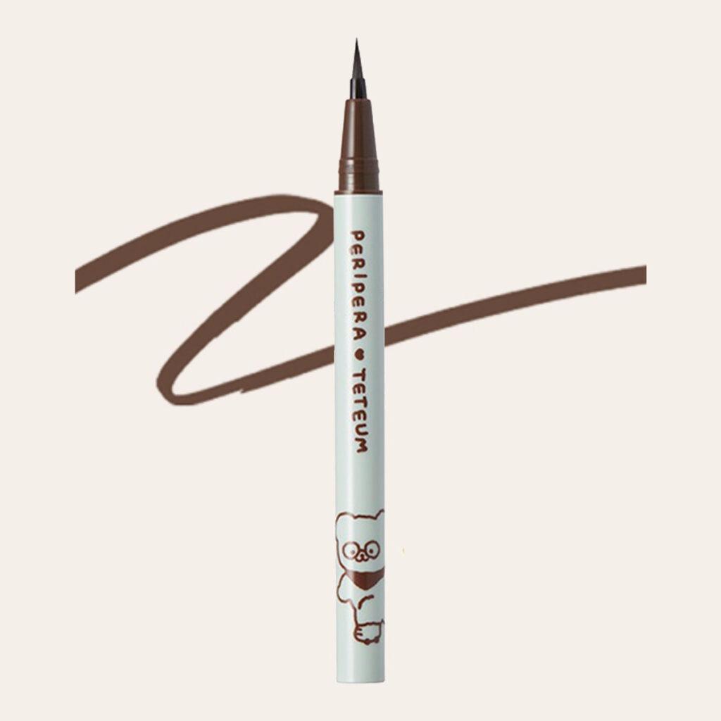 Peripera x Teteum - Ink Thin Thin Brush Liner (Teteum Edition) #02 Brown Film