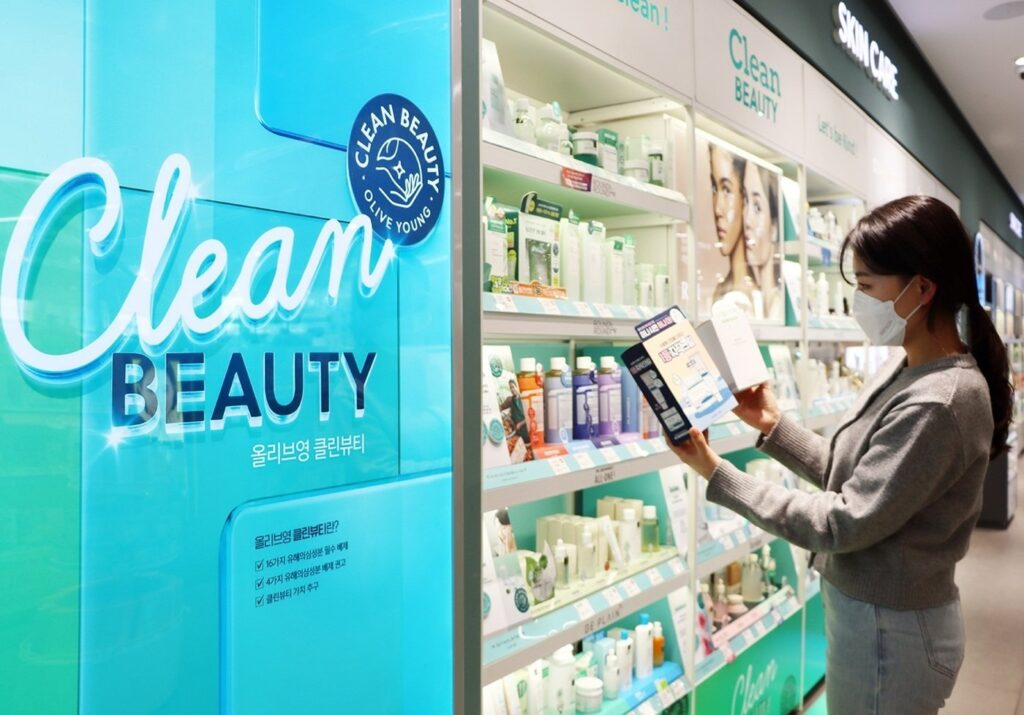 Clean Beauty at Olive Young