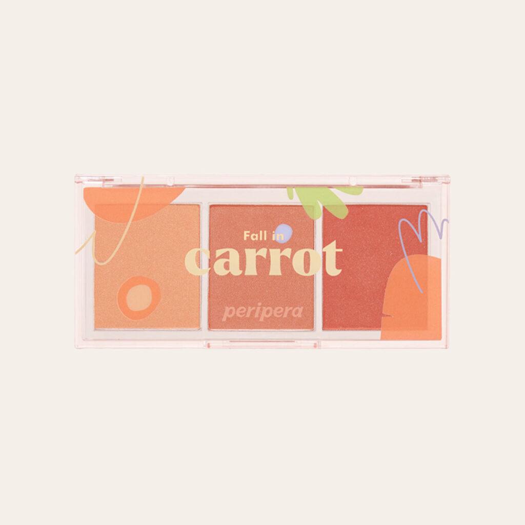 Peripera - All Take Mood Cheek Palette [#Fall In Carrot]