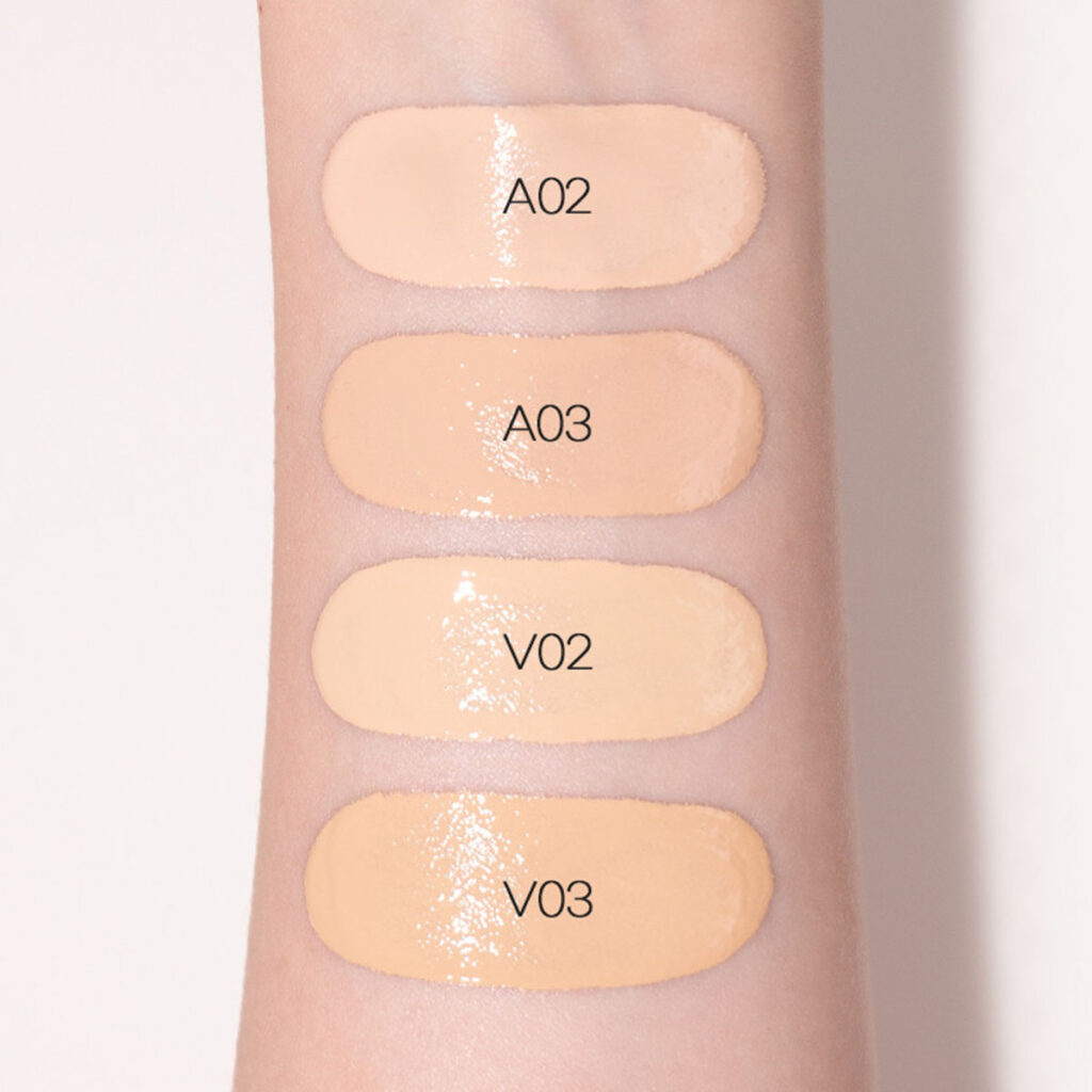 VDL - Perfecting Glow Satin Foundation Swatches